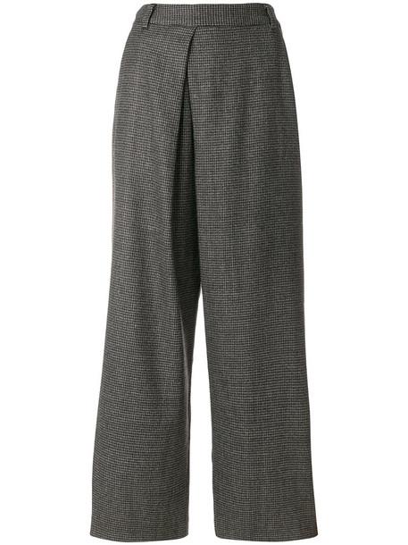 Pas De Calais culottes women cotton wool grey pants