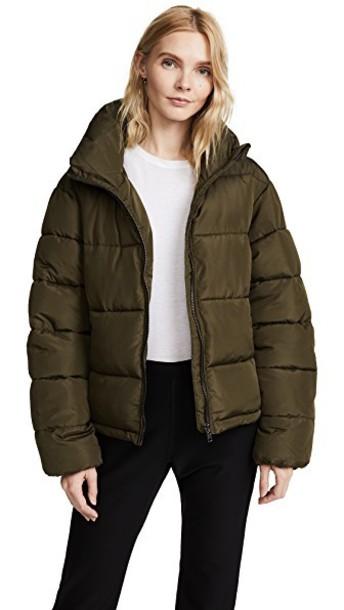 Glamorous coat cropped khaki