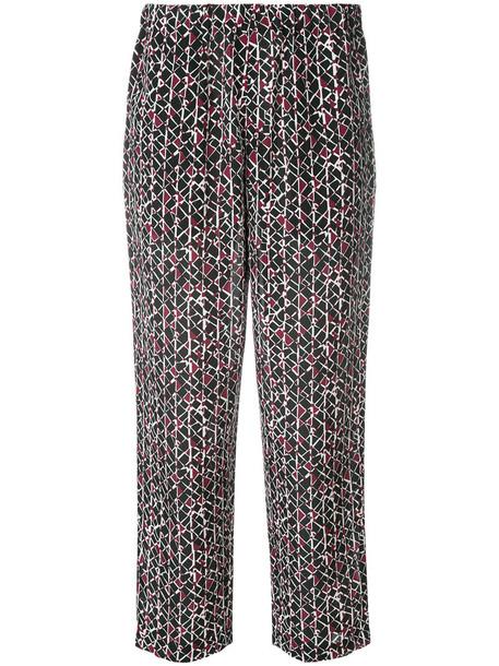 MARNI cropped women black silk pants