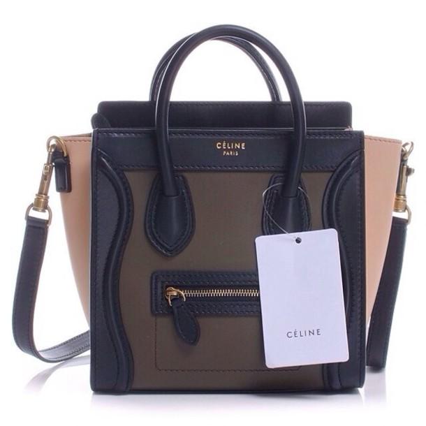 celine black purse