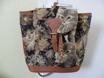 TAPESTRY CAT PRINT RUCKSACK | eBay UK