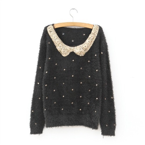 Fuzzy Sequin Collar Sweater from DoubleLW on Storenvy