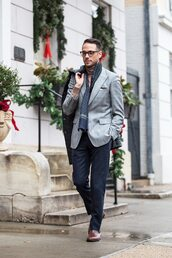 he spoke style,blogger,scarf,mens blazer,menswear,mens printed scarf