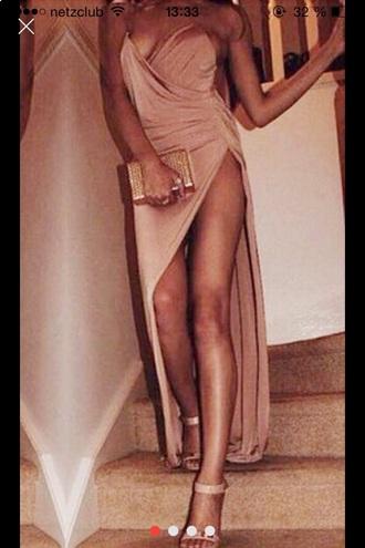 dress maxi dress glitter glitter dress style prom dress gold shiny heels