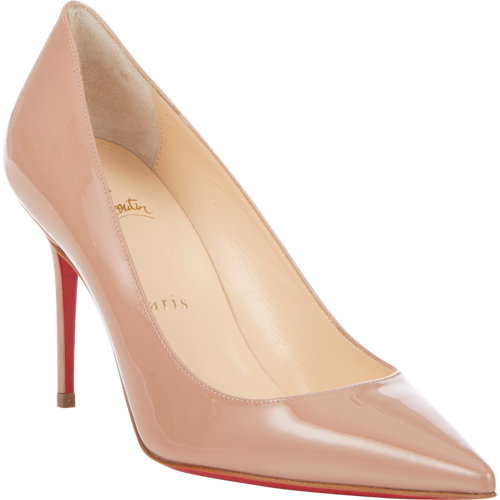 Christian louboutin patent decollete pumps at barneys.com
