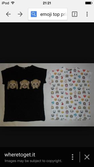 t-shirt grey emoji tee