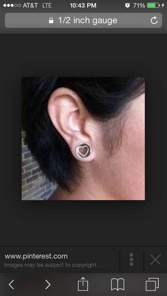 jewels earrings ear piercings earing stretch gauges gauged ear tunnel tunnels