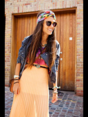 dress,orange dress,jacket,hair accessory