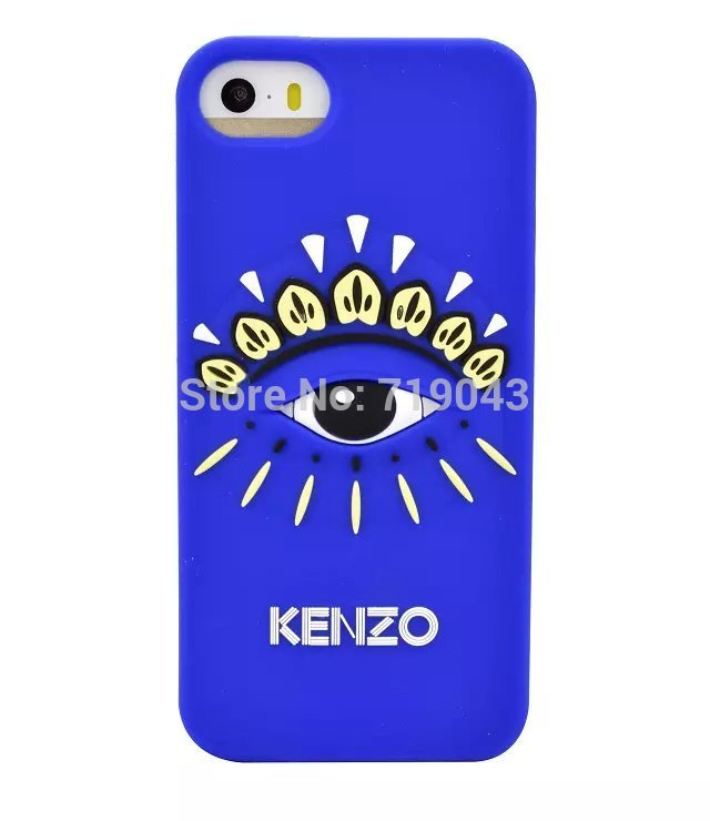 2015 real high quality luxury fashion new design for kenzoe eyes silicone phone case for iphone5 for phone 5s, free shipping