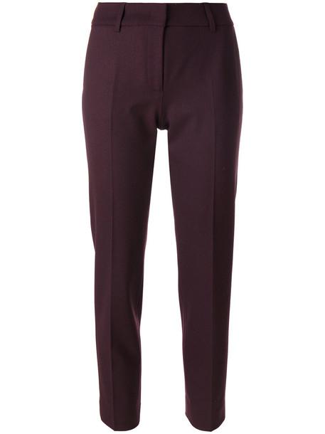 Piazza Sempione pants women spandex wool purple pink