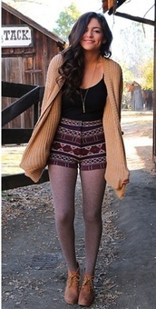 shorts,bethany mota,shoes,leggings,sweater,top,outfit,cardigan,tank top,shirt,jacket