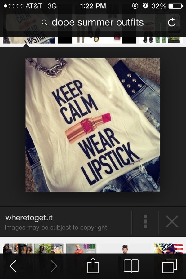 shirt keep calm lipstick tank top pink