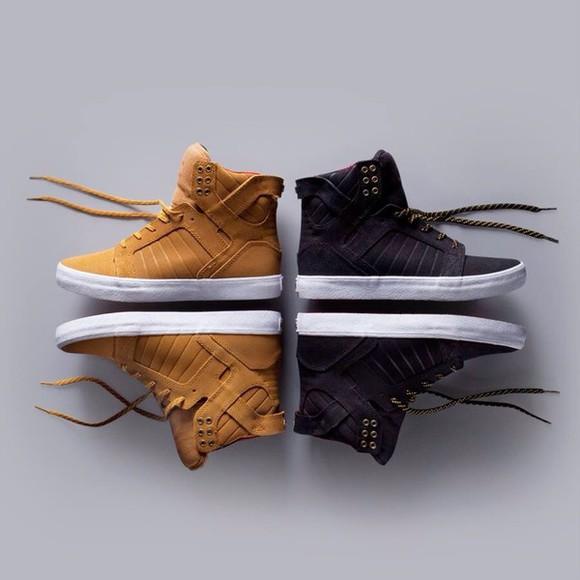 shoes sneakers black supras