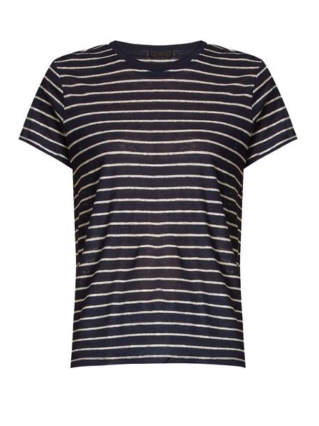 ATM t-shirt shirt t-shirt navy white top