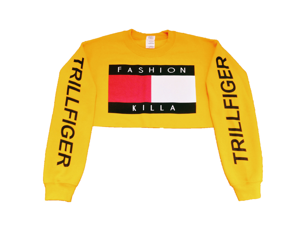 Soto militia ? fashion killa x trillfiger crop sweater (yellow)