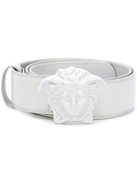 VERSACE women belt leather grey