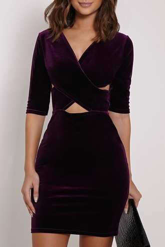 dress girl girly girly wishlist bodycon bodycon dress velvet velvet dress sexy dress purple dress