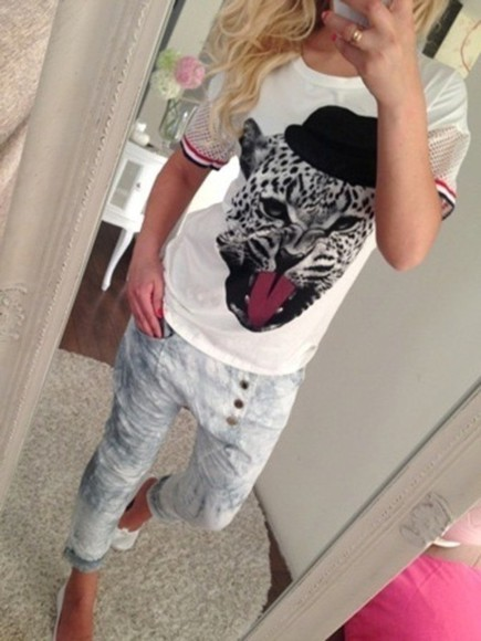 leopard print cats t-shirt