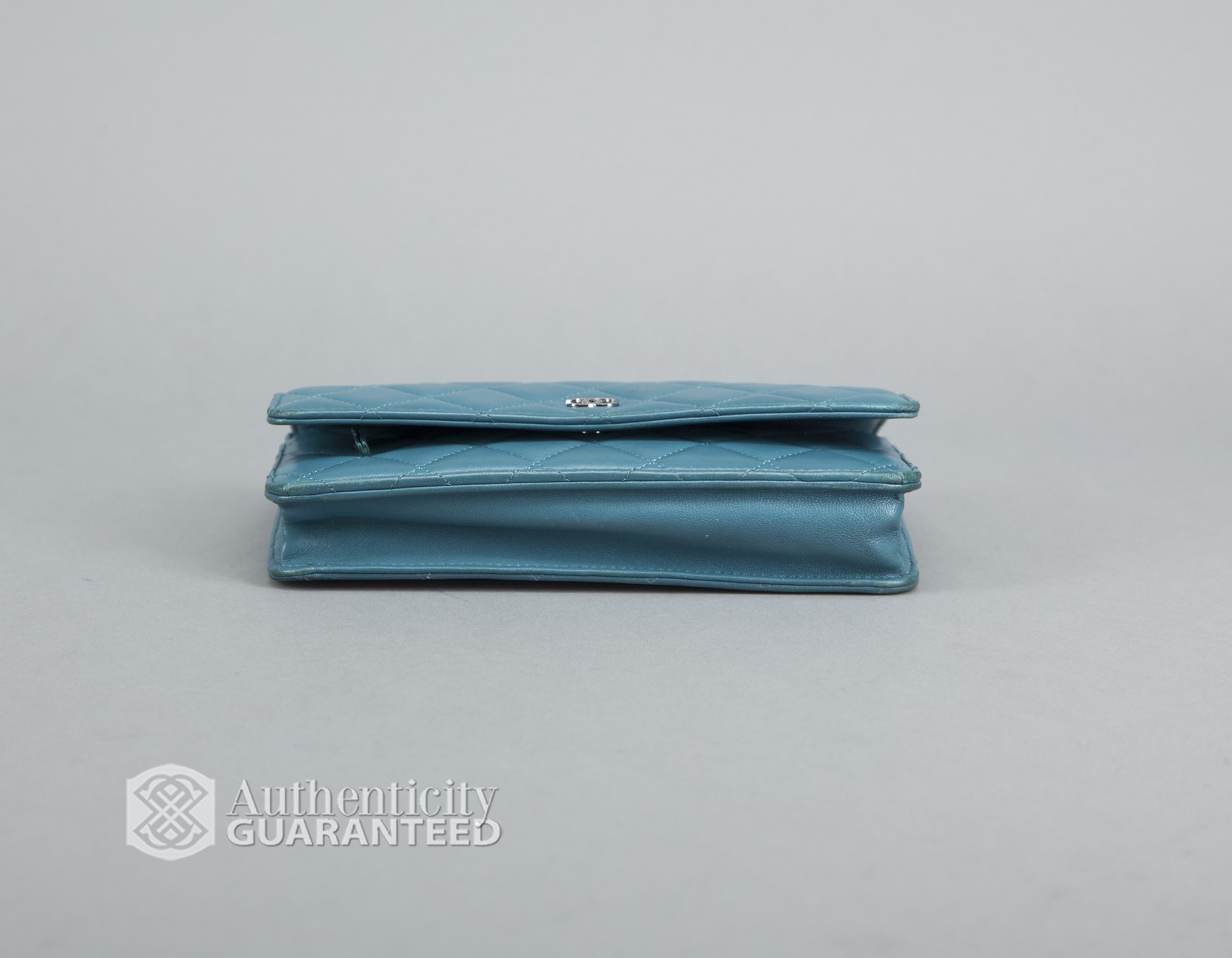 Chanel - Turquoise Quilted Cc Woc Wallet On Chain