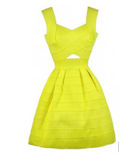 dress,small,medium,bright yellow,yellow dress