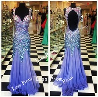 Backless sequins prom dress floor length sexy dress evening dress bridesmaid dress 2014 hot selling party dress