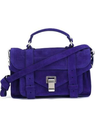 satchel blue bag