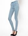 Just Female Stroke High Waist Skinny Jeans at asos.com