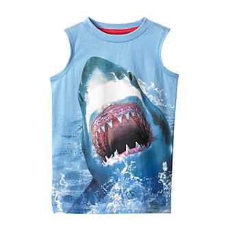 Product: Ruff Hewn Boys' 2T-7 Blue Shark Muscle Tee