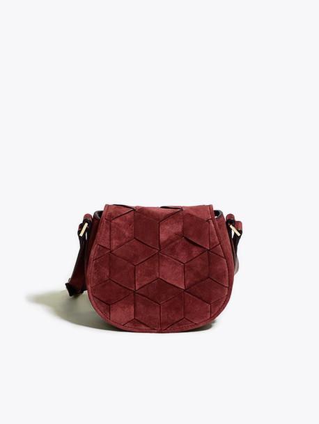 bag handbag designer bag designer handbags unique handbags leather handbags  suede bag shoulder bag burgundy gift