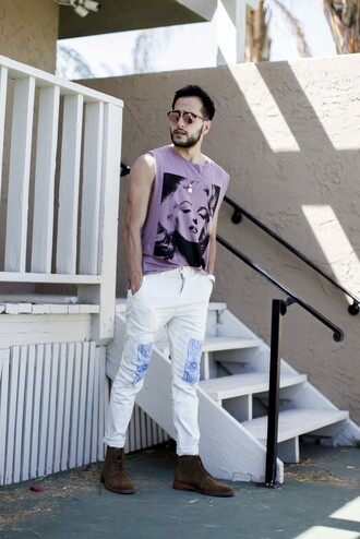 the metro man blogger t-shirt pants jewels shoes sweater jeans tank top