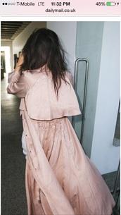 jacket,kim kardashian,pastel pink jacket,silky duster jacket,silky coat,nude pink coat