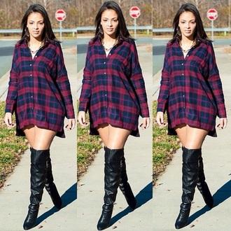 dress flannel shirt dress plaid dress