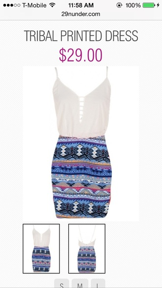 dress tribal print dress bodycon dress boho