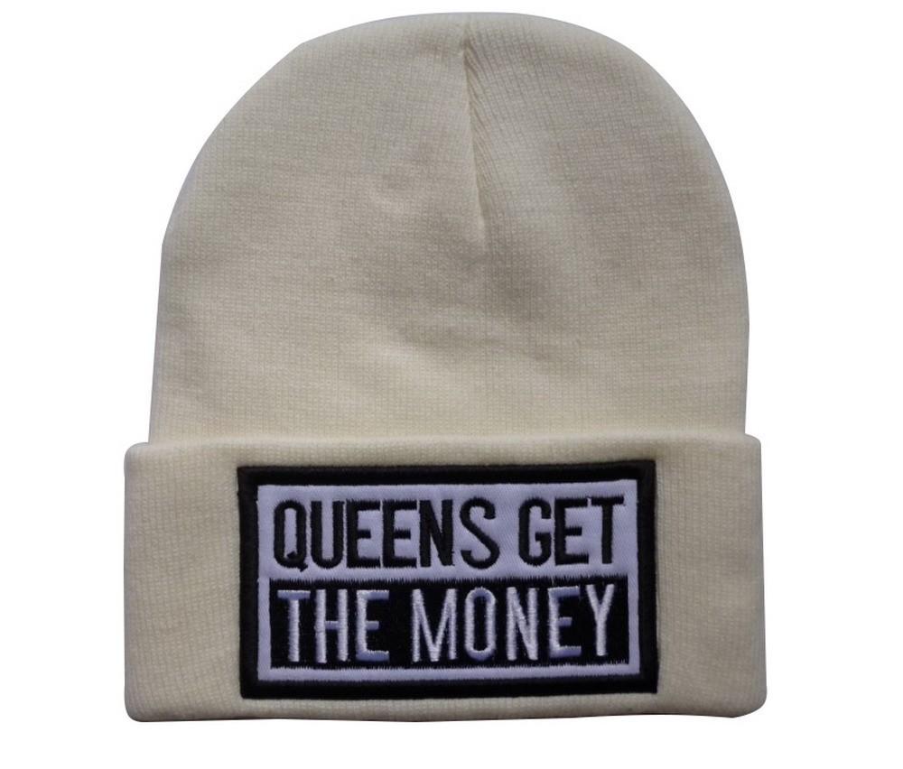 Queens get the money Beanies Hats Hip Hop wool winter Cotton knitted  baseball caps Snapback hat ... aa71cd58083