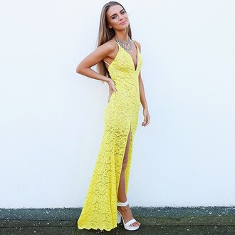 dress yellow lace canary yellow lace dress yellow lace dress lace maxi yellow formal dress formal dress prom dress yellow prom dress cocktail dress yellow cocktail dress peppermayo