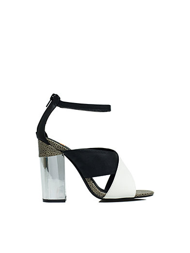 Cross Over Block Sandal - Nly Shoes - Svart/Hvit - Festsko - Sko - Kvinne - Nelly.com