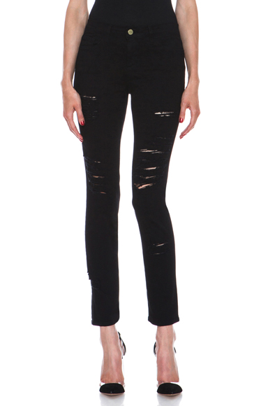 Le color rip jean in ripped noir