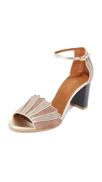 Malone Souliers Connie City Sandals - Taupe/Platino/Quercus