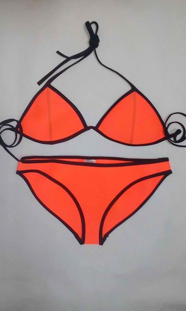 tangerine triangle neoprene bikini tattoosocks online store powered by storenvy. Black Bedroom Furniture Sets. Home Design Ideas