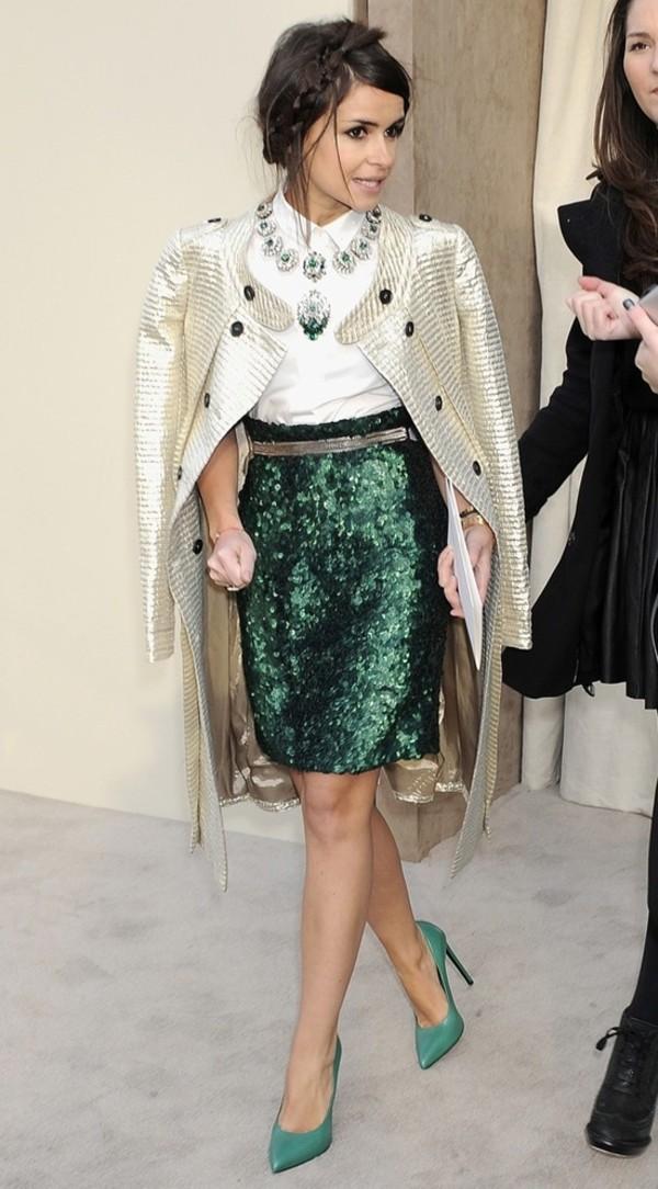 Green Sequin Skirt - Shop for Green Sequin Skirt on Wheretoget