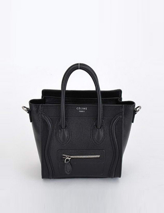 Celine Nano Luggage Bag in Black - Avenue K