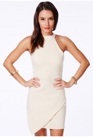 Faustina High Neck Asymmetric Dress - Dresses - Bodycon Dresses - Missguided | Ireland