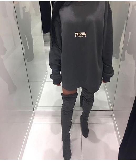 yeezy grey sweatshirt