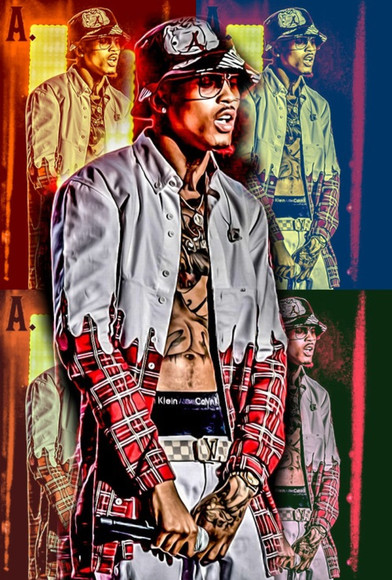 chris brown bucket hat jacket august alsina swag thugs usher singer bet awards 2014 tattoo glasses voice
