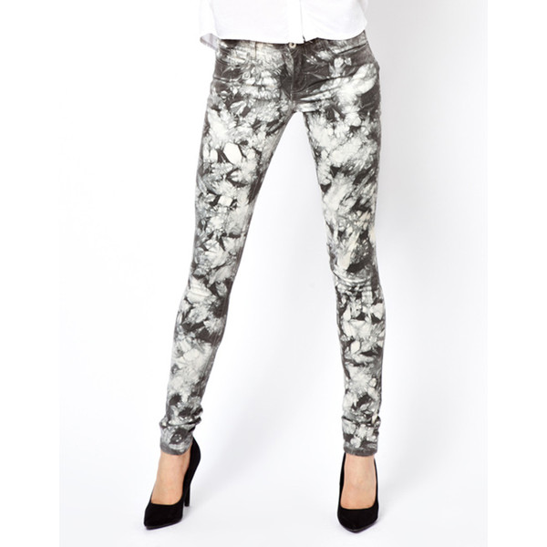 Vila Tie Dye Skinny Jeans - Polyvore
