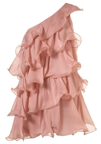 dress pink dress chiffon dress ruffle dress mini dress cocktail dresses please help.