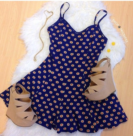 blue dress cute dress floral dress romper bleue jumpsuit floral