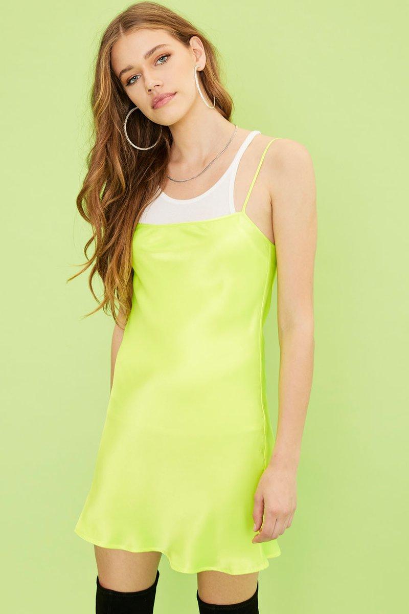 Amur Mini Dress - Sunglow Yellow