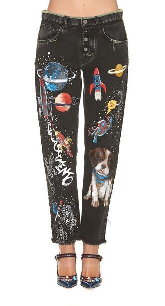 jeans black multicolor