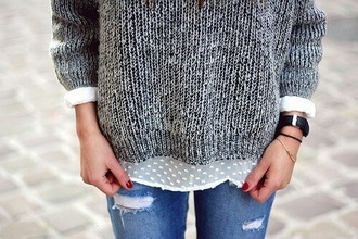 sweater grey sweater oversized sweater knitwear